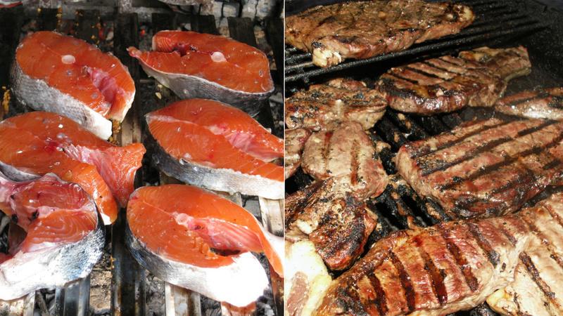 Barbecue viande ou poisson