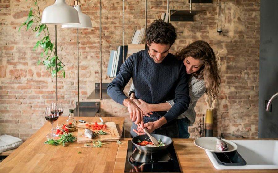 amour cuisiner romantique