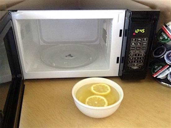 nettoyage micro onde citron