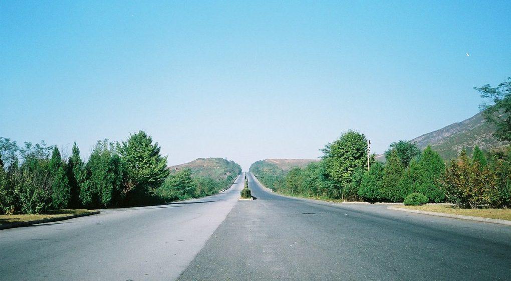 autoroute de Kaesong en Corée du Nord