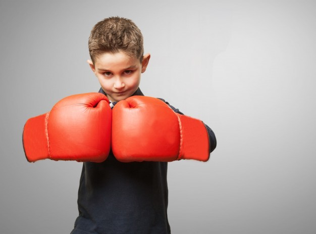 boxe et punching ball enfant